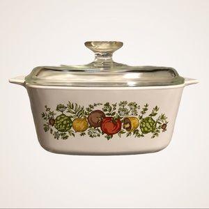 VINTAGE CORNINGWARE / spice of life casserole 1.5L